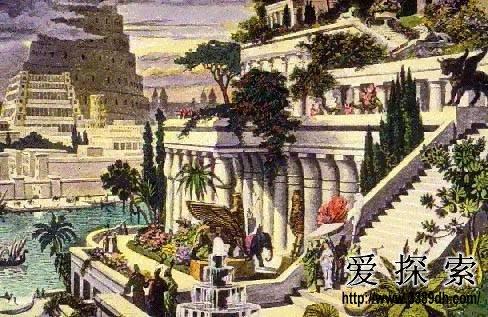 古巴比伦建筑通天塔手绘
