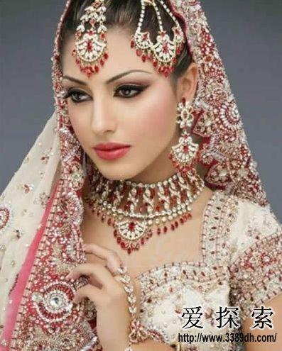 印度妆面手绘图