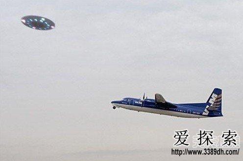 飞机上看到的ufo